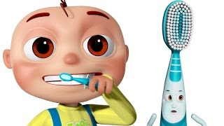 getlinkyoutube.com-Brushing Song | Brush Your Teeth Song | Good Habits Nursery Rhymes For Babies & Kids Songs
