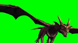 getlinkyoutube.com-Dragon in Fly - different Views - greenscreen effects