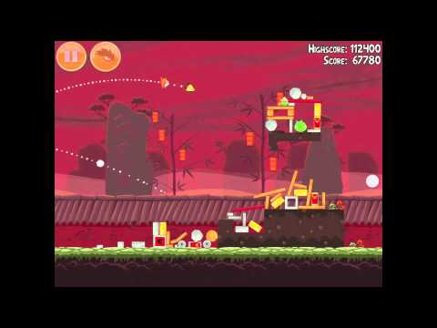 Angry Birds Seasons Year of the Dragon 1-7 Walkthrough 2012 3 Star