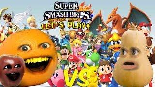 getlinkyoutube.com-Super Smash Bros - Annoying Orange vs Squash!