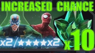 MARVEL: Contest of Champions (iOS/Android) SCIENCE CRYSTAL Increased Chance 4 STAR Hunting PART 103