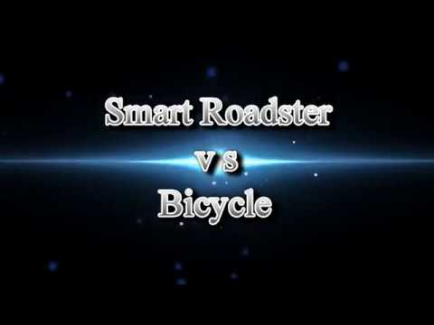 Smart Roadster vs Bicycle
