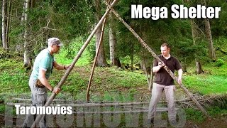 getlinkyoutube.com-Mountain Overnight & Mega Shelter/HD Bushcraft Survival Video