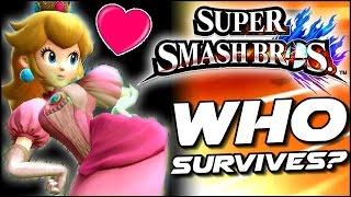 getlinkyoutube.com-Super Smash Bros WHO CAN SURVIVE Peach's Big Booty in Lava Trap? (Wii U)