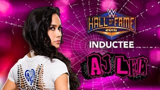 getlinkyoutube.com-AJ Lee joins the WWE Hall of Fame Class of 2016 - Custom