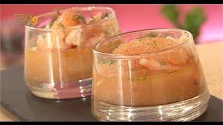 getlinkyoutube.com-Recette de Verrines de crevettes et pamplemousse - 750 Grammes