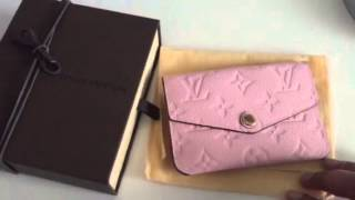 getlinkyoutube.com-Reveal: Louis Vuitton Empreinte Rose Ballerine Key Pouch Cles
