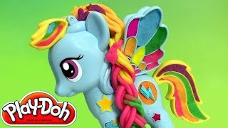 getlinkyoutube.com-Play Doh Rainbow Dash My Little Pony Style Salon PlayDough Salon Branché | Peinados de colores