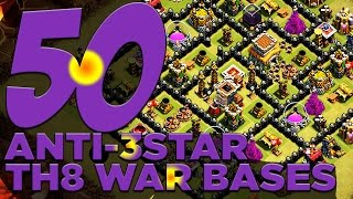 getlinkyoutube.com-50 X ANTI-3 STAR TH8 War Bases For Your Clan Wars!! | Clash of Clans