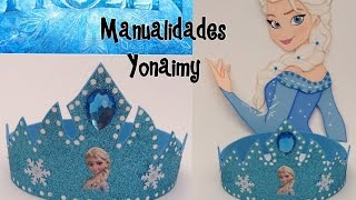 getlinkyoutube.com-CORONA DE PRINCESA  ELSA EN FOAMY O GOMA EVA .-  ELSA'S CROWN
