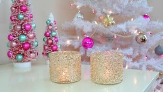 getlinkyoutube.com-DIY Christmas/Winter Room Decor - Frosty Glitter Jars