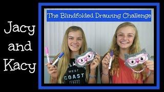 getlinkyoutube.com-Blindfolded Drawing Challenge ~ Jacy and Kacy