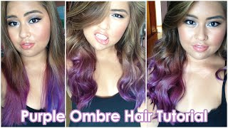 getlinkyoutube.com-Purple Ombre Hair Tutorial | Bella Rodriguez