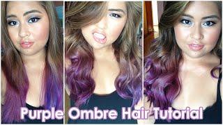 Purple Ombre Hair Tutorial | Bella Rodriguez