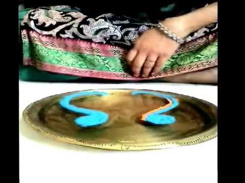 How to make Rangoli on Water