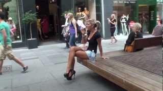 getlinkyoutube.com-HOW TO TEASE A DUSTMAN IN MEGA HIGH HEELS IN PUBLIC