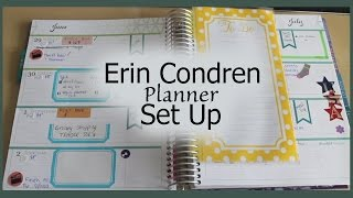 getlinkyoutube.com-Erin Condren Planner Set Up | How I Organize | Horizontal