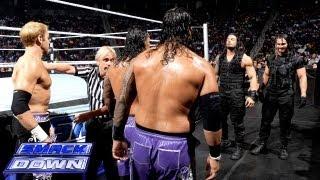 getlinkyoutube.com-Christian & The Usos vs. The Shield: SmackDown, June 28, 2013
