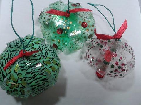 Reciclado : Con botella plasticas realizamos adornos navideños // Recycled /Christmas ornaments/