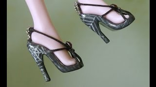 getlinkyoutube.com-Как сделать КРУТЫЕ туфельки для куклы Монстер Хай, Барби и других
