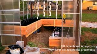 getlinkyoutube.com-HD Aquaponics Greenhouse - Sneak preview of the nearly finished aquaponics greenhouse