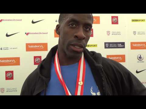 Dwain Chambers wins Mens 100m - British Champs 2014