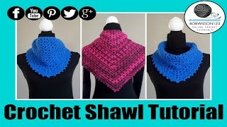 getlinkyoutube.com-Crochet V-Stitch Shawl Tutorial