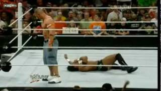 getlinkyoutube.com-Raw Helped John Cena and John Cena Destroyed Darren Young