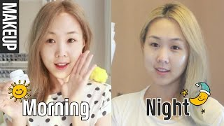 getlinkyoutube.com-My Korean Layering Skincare Routine ♡ How I Cleanse My Makeup 미정이의 피부관리 루틴 | MEEJMUSE