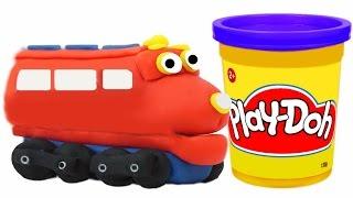 getlinkyoutube.com-Play Doh Train Wilson We Make from Playdough Chuggington Toys Trains for Children