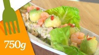Recette Avocats aux crevettes - 750 Grammes