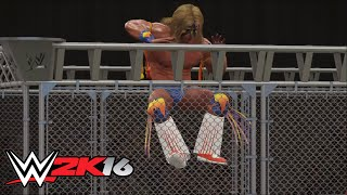 getlinkyoutube.com-WWE-2K16- The Ultimate Warrior vs. Bret Hart, WWE Championship Steel Cage Match (PS4)