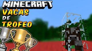 Minecraft: Como construir una Vitrina de TROFEOS con Mobs en MINECRAFT (Pobres vacas XD!)