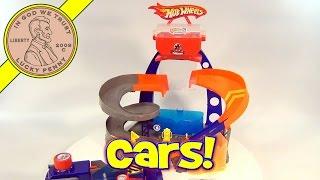 getlinkyoutube.com-Hot Wheels Color Changer Shifter Custom Shop Garage, by Mattel Toys