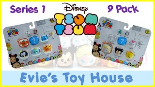 getlinkyoutube.com-Disney Tsum Tsum Vinyl Figures SERIES 1 - 9 packs with Surprise Blind Bag | Evies Toy House