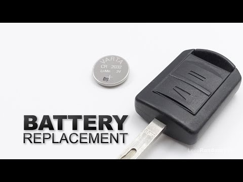 How to Change the Battery in a Vauxhall Key Fob - Opel Car Key Battery Replacement Tutorial