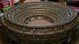 getlinkyoutube.com-The Downward Spiraling Helix with an HO scale model train and K'NEX