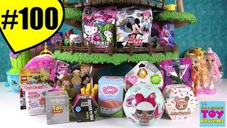 getlinkyoutube.com-Blind Bag Treehouse #100 Unboxing Num Noms Disney Shopkins LOL Doll | PSToyReviews
