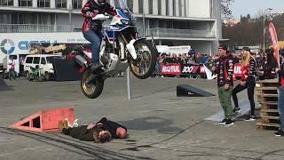 Stunt Honda africa twin adventure sport motosalon Brno 2018