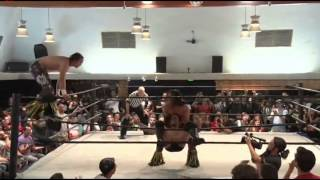 getlinkyoutube.com-Andrew Everett  & Trevor Lee  vs The Young Bucks Highlights