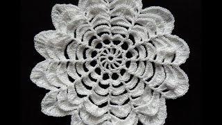 getlinkyoutube.com-Crochet : Flor de 12 Petalos. Parte 1 de 3