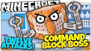 getlinkyoutube.com-Minecraft | COMMAND BLOCK BOSS BATTLE! | Kill Evil Command Blocks! (Minecraft Vanilla Boss Mod)