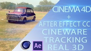 After effect cc Cineware & Cinema 4D Tracking tutorial