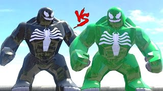 getlinkyoutube.com-BLACK VENOM VS GREEN VENOM - LEGO FIGHT (LEGO MARVEL SUPER HEROES)