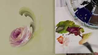 getlinkyoutube.com-Wet Backgrounds- A Palette of Flowers Book Video 4