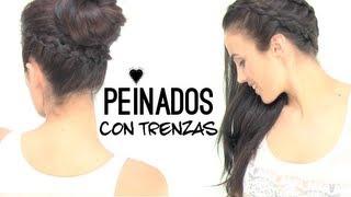 getlinkyoutube.com-PEINADOS CON TRENZAS | Coleta y moño