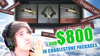getlinkyoutube.com-PRAY FOR SOUVENIR DRAGON LORE - $800 in Cobblestone Packages - Case Opening - CS:GO