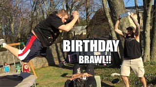 getlinkyoutube.com-EPIC TABLE MATCH at DAUGHTERS BIRTHDAY! Backyard Wrestling!