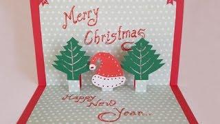 getlinkyoutube.com-DIY Paper Craft :How to Make an Easy Handmade Christmas Pop up Greeting Card