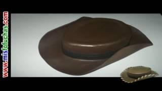 getlinkyoutube.com-Sombrero vaquero en foami para disfraz halloween de Woody Toy Story Disney Pixar Fofuchas en foami